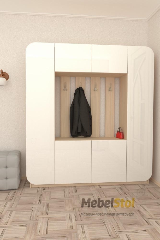 Прихожая мебелеф-3 мдф белый глянец арт156 - отзывы покупате.