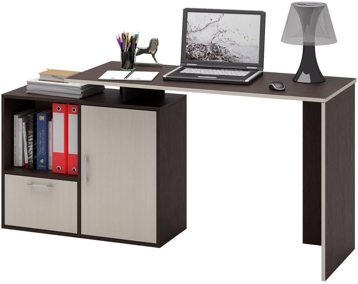 """Компьютерный стол """"слим-4"""" прямой."""