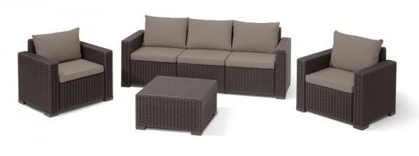 Комплект мебели Allibert California 3 Seater Set