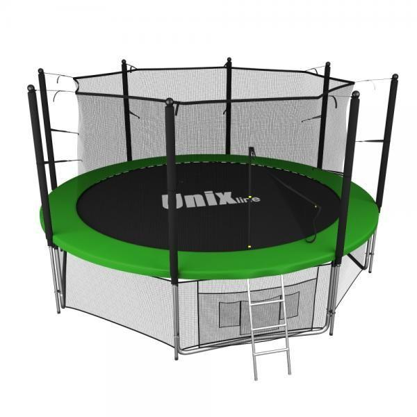 Батут UNIX line 12 ft inside green TRU12INGR